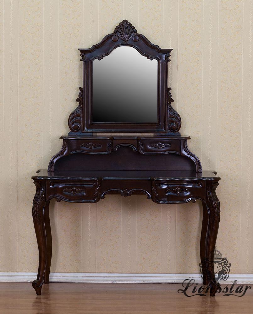 Spiegelkommode Barock Mahagoni Holz Sk.240