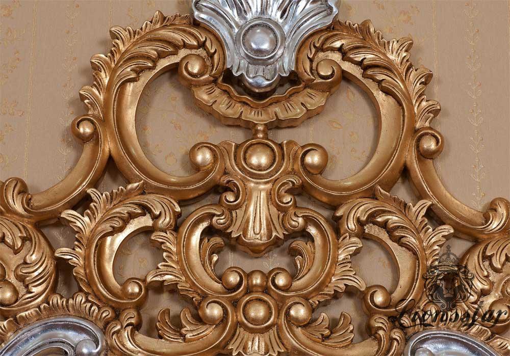 Spiegelkommode Barock Mahagoni Holz Sk.258
