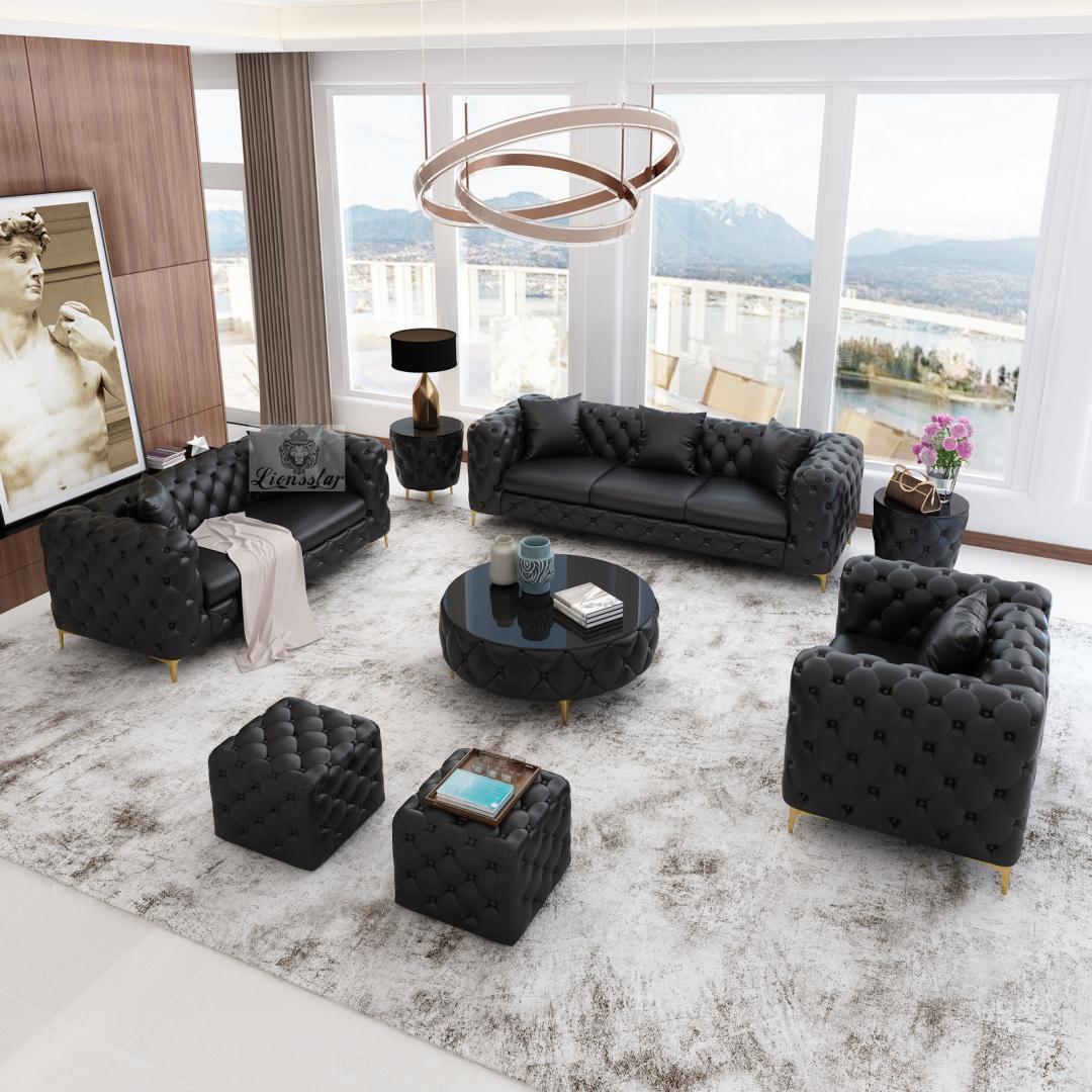 Luxus Sofaset Loft Modern Chesterfield