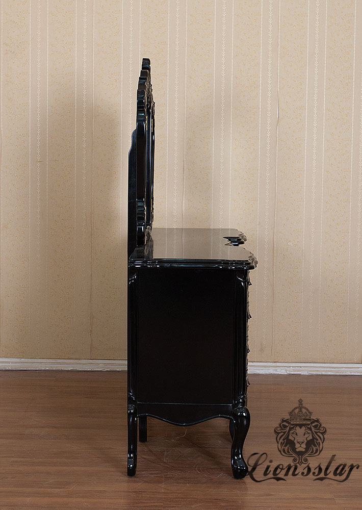Spiegelkommode Barock Mahagoni Holz Sk.230