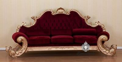 Barocksofa King Gold-Rot