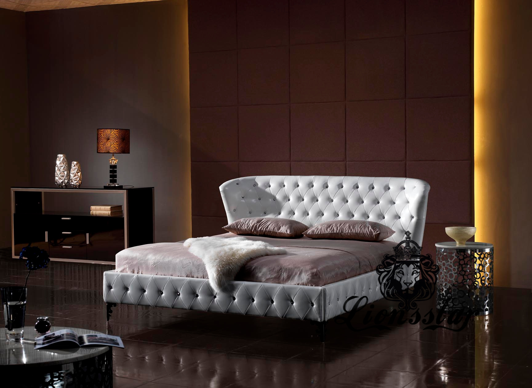 luxus bett lionsstar gmbh. Black Bedroom Furniture Sets. Home Design Ideas