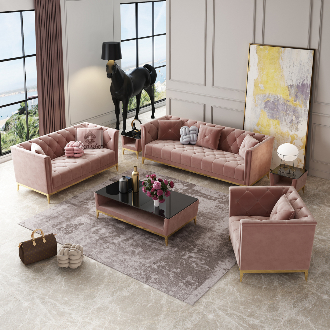 Designer Sofa Set Chesterfield Stil Modern