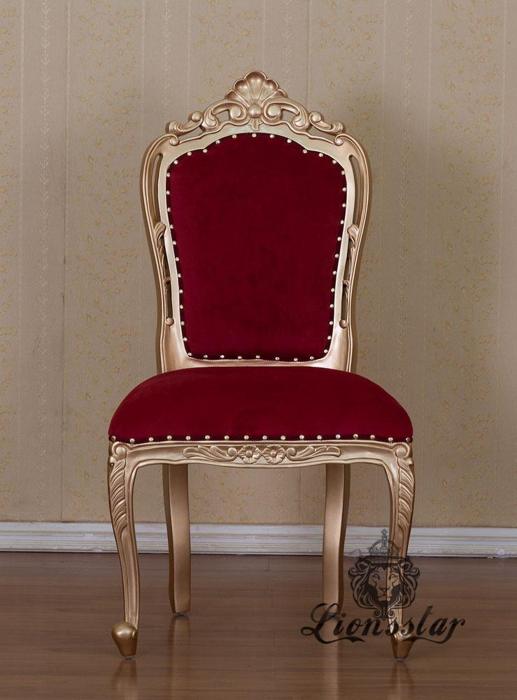 Stuhl Gold Rot