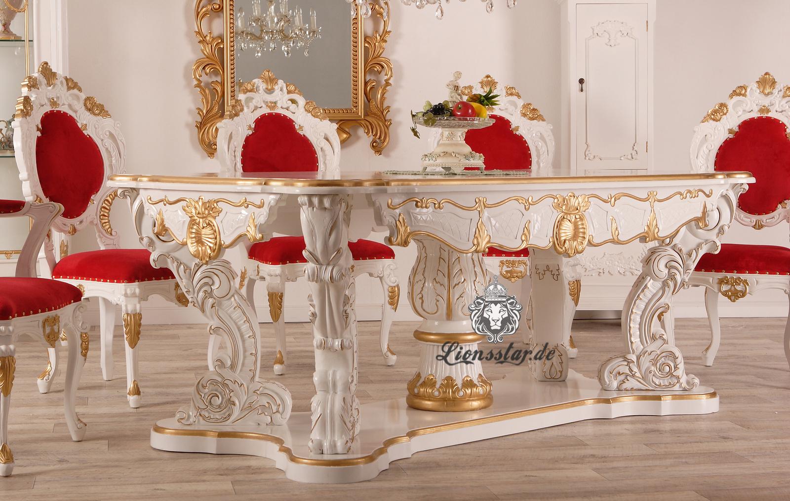 Esstisch mit Stühlen Barockstil