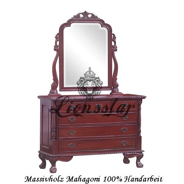 Spiegelkommode Barock Mahagoni Holz Sk.112