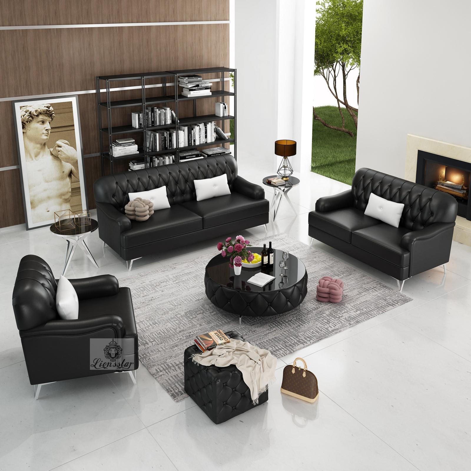 Edel Designer Sofa Set Lounge Linie