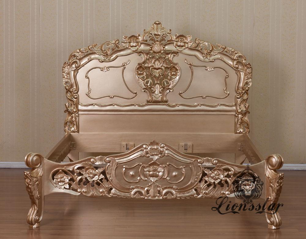 Rokoko Bett Gold Edition