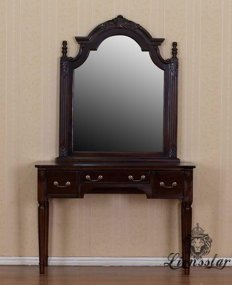 Spiegelkommode Barock Mahagoni Holz Sk.245