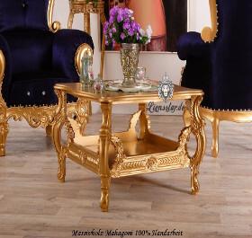 Handgefertiger Couchtisch Rokoko Gold