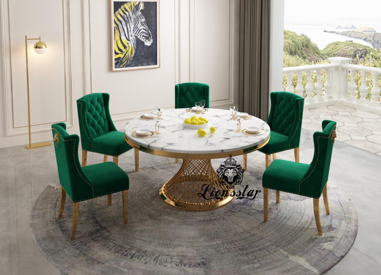 Designer Esstisch-Stuhl Golden Spirit