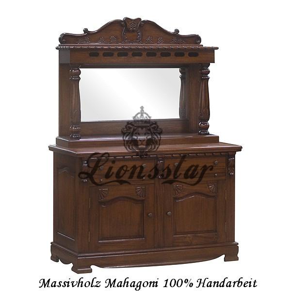 Spiegelkommode Barock Mahagoni Holz Sk.106