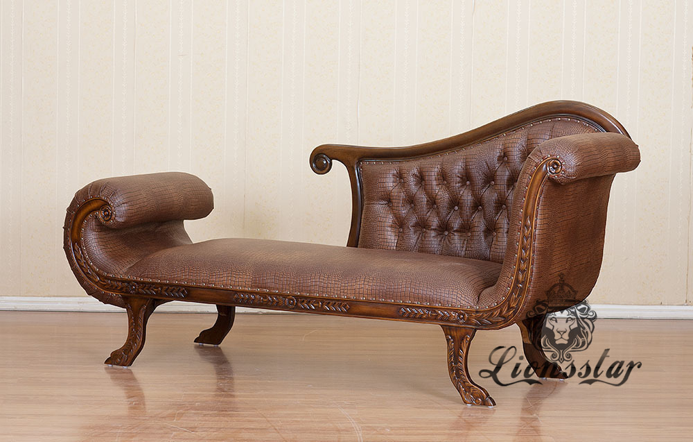 Recamiere Barock Mahagoni Holz R.213