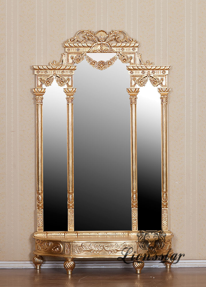Spiegelkommode Barock Mahagoni Holz Sk.306
