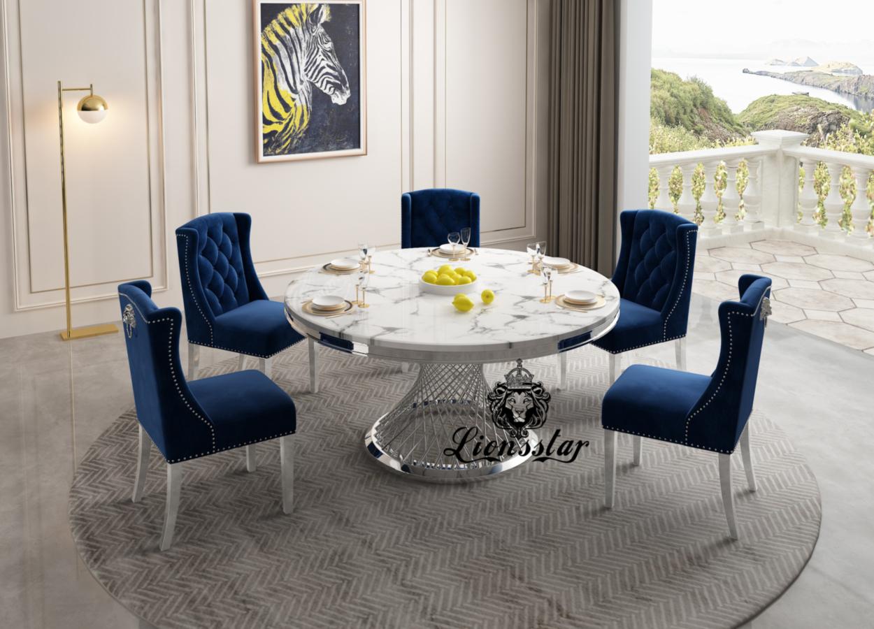 Designer Esstisch-Stuhl Silver Spirit