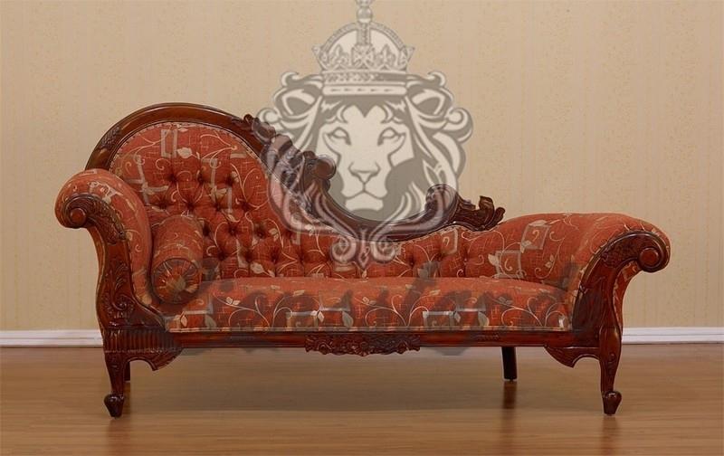 Luxus Sofa Recamiere Rococo Stil Rot