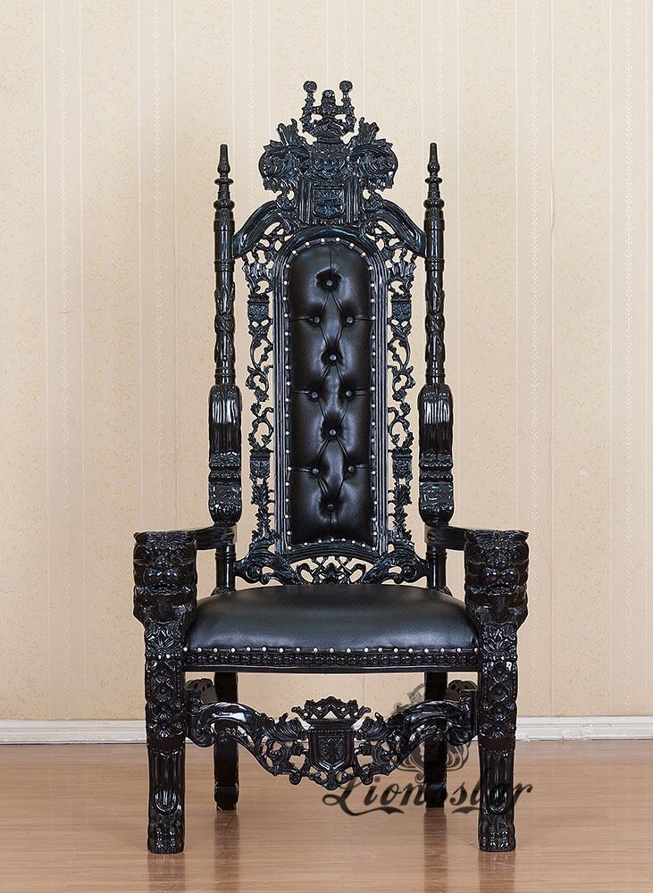 thronstuhl l we massiv lionsstar gmbh. Black Bedroom Furniture Sets. Home Design Ideas
