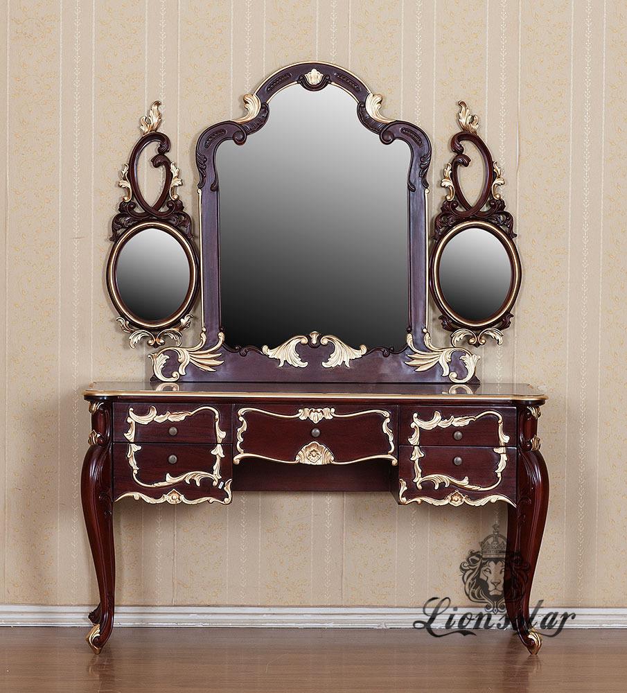 Spiegelkommode Barock Mahagoni Holz Sk.100