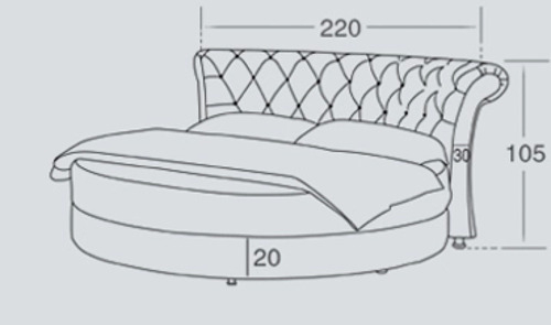 Luxus Bett Rund