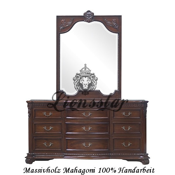 Spiegelkommode Barock Mahagoni Holz Sk.127