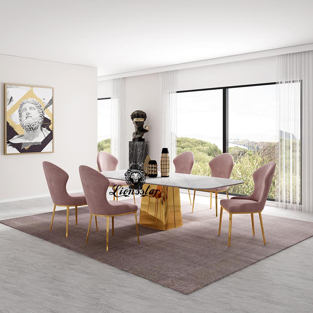 Luxus Designer Esstisch Gold Tower