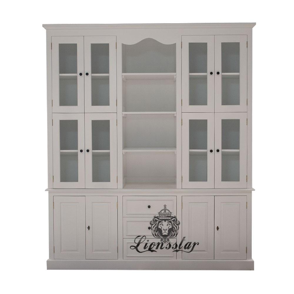 Kolonialstil Bücherschrank Weiß | Lionsstar GmbH