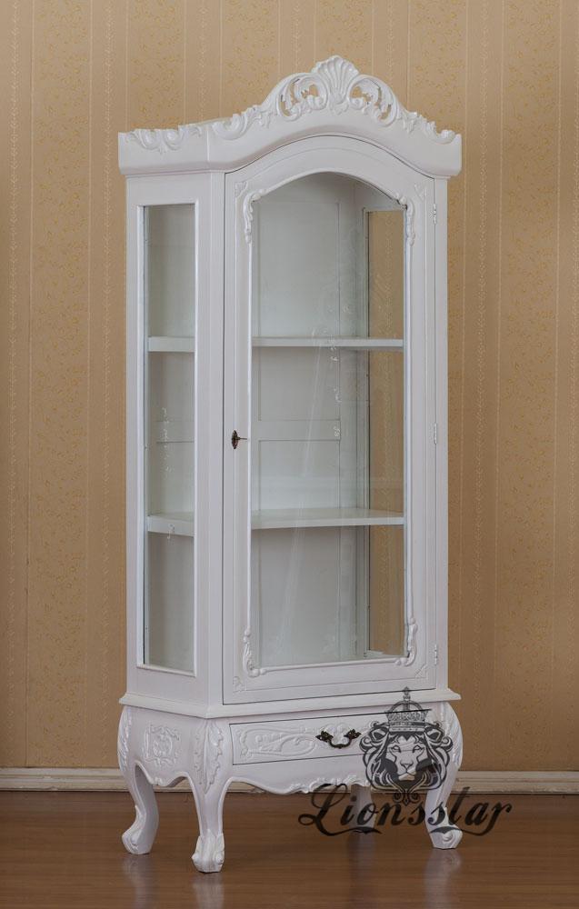Barockstil Vitrine Weiß