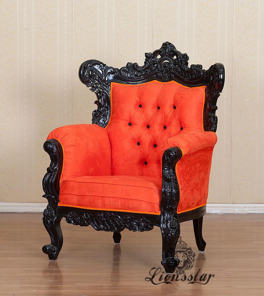 Thronstuhl Barock Orange