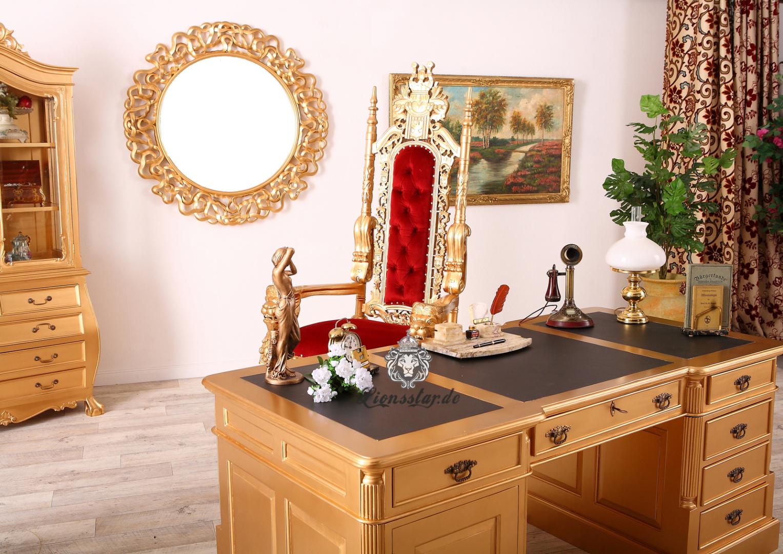 Schreibtisch Gold