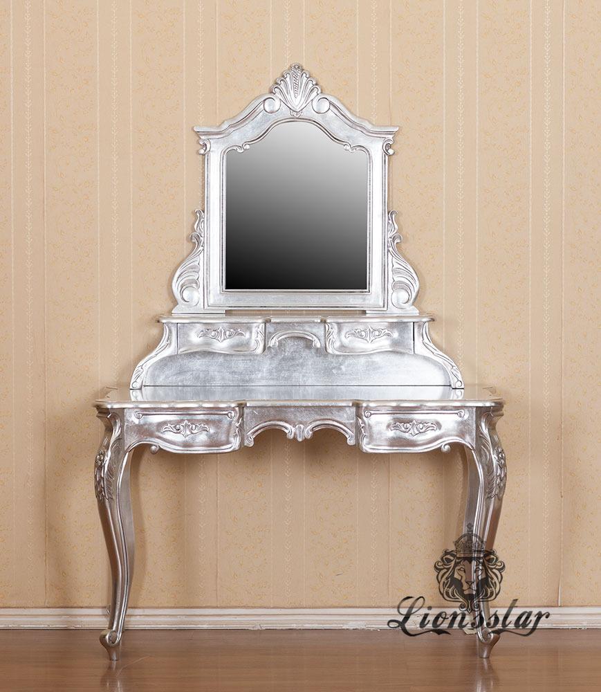 Spiegelkommode Barock Mahagoni Holz Sk.170