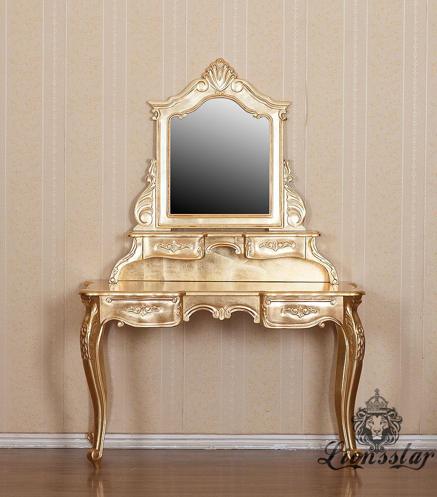 Spiegelkommode Barock Mahagoni Holz Sk.291