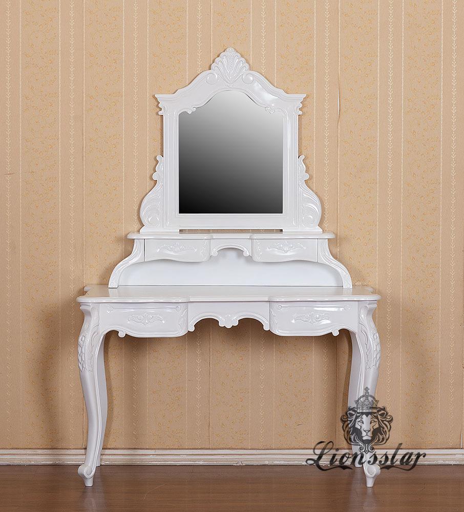 Spiegelkommode Barock Mahagoni Holz Sk.173