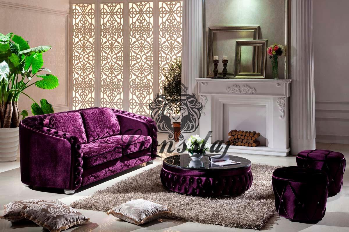 Wohnzimmer Sofa Purpur