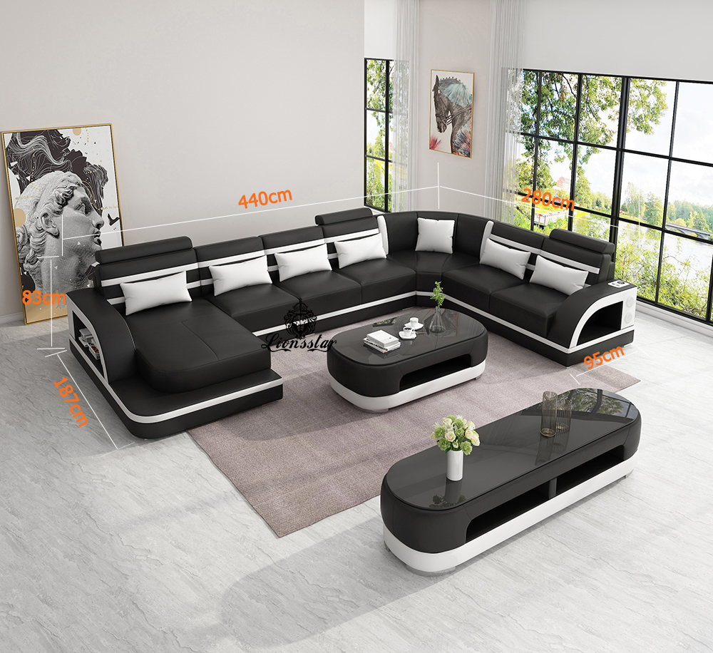 Moderne Designer Wohnlandschaft Cassiopeia