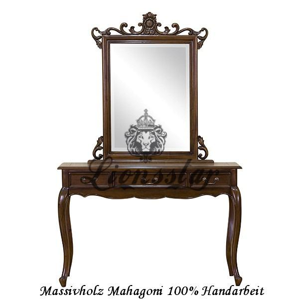 Spiegelkommode Barock Mahagoni Holz Sk.140