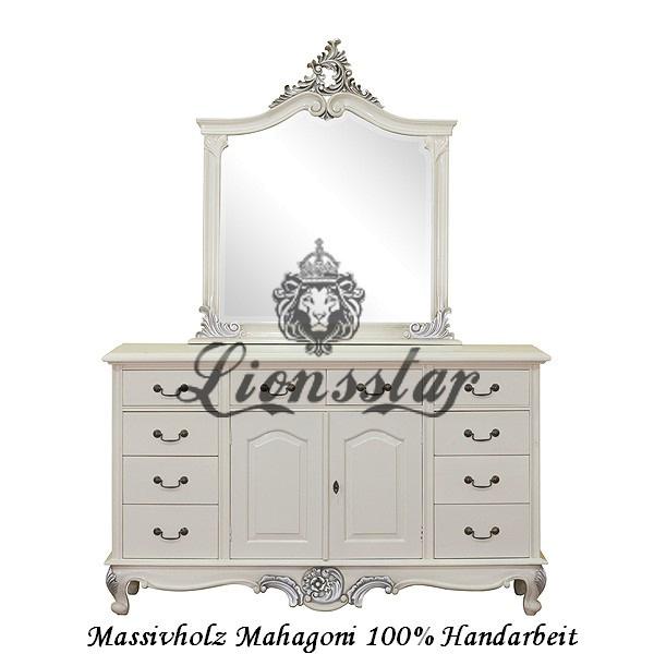 Spiegelkommode Barock Mahagoni Holz Sk.135