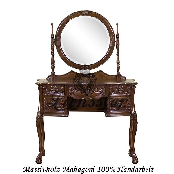 Spiegelkommode Barock Mahagoni Holz Sk.139