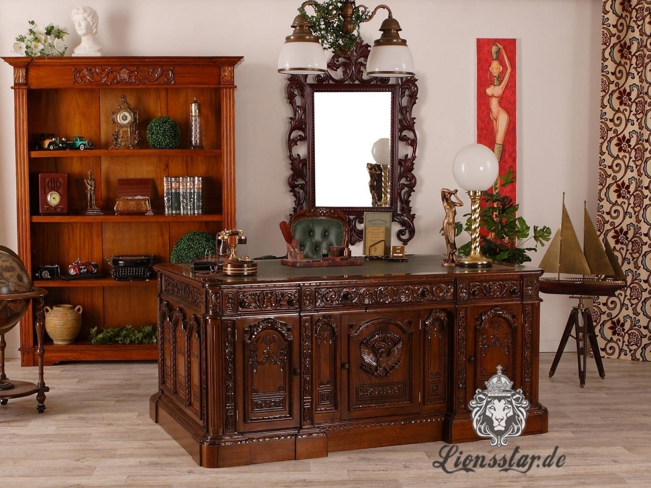Schreibtisch Predsidentendesk Massivholz