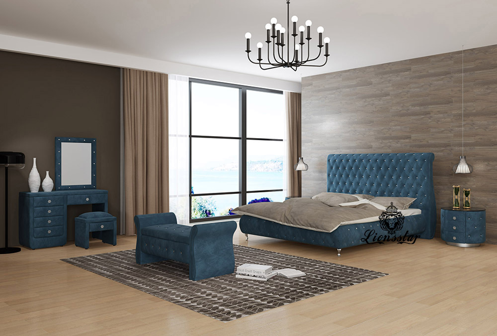 Edel Designer Bett Modern Chesterfield