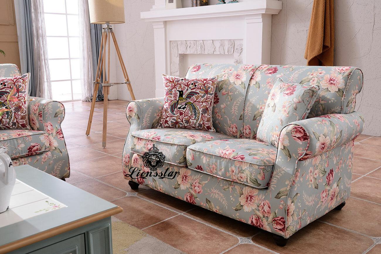Designer Sofaset Cottage Blumen