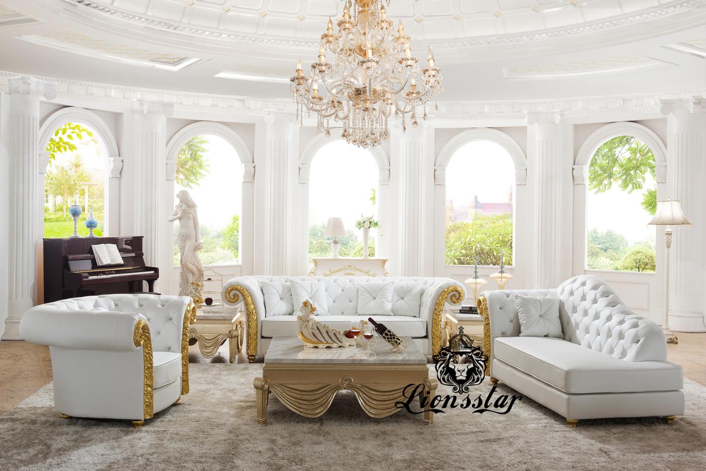 Barock Sofa-Set Sissi Recamiere