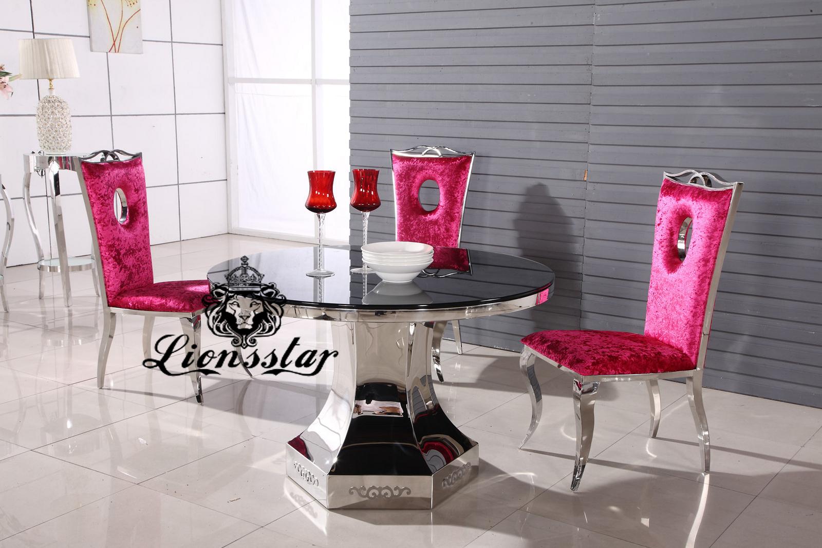 Designertisch Set Pink