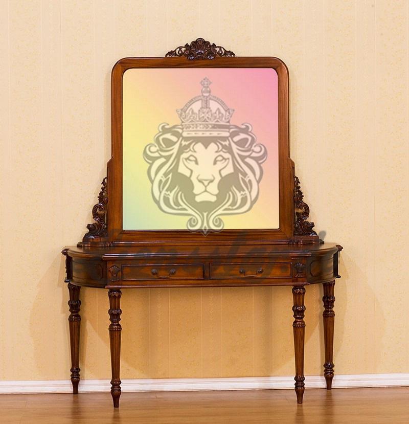 Spiegelkommode Barock Mahagoni Holz Sk.256
