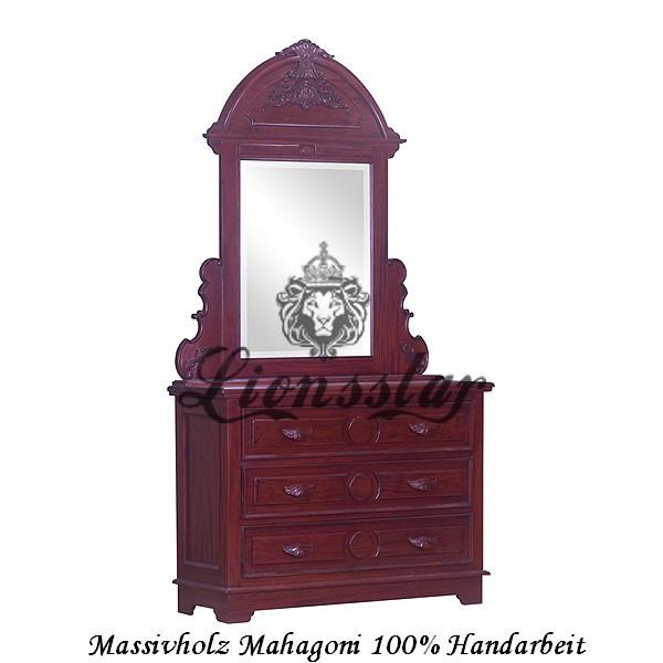 Spiegelkommode Barock Mahagoni Holz Sk.113