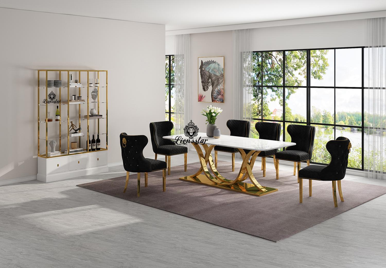 Luxus Designer Esstisch Leonis Aurum