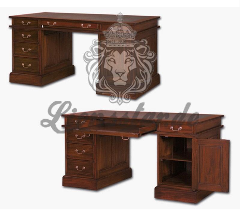 Mahagoni Schreibtisch Venezia