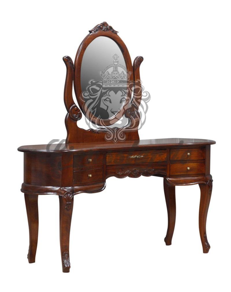 Spiegelkommode Barock Mahagoni Holz Sk.104