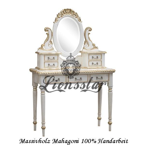 Spiegelkommode Barock Mahagoni Holz Sk.115