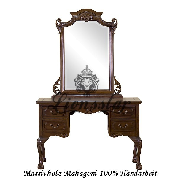 Spiegelkommode Barock Mahagoni Holz Sk.141