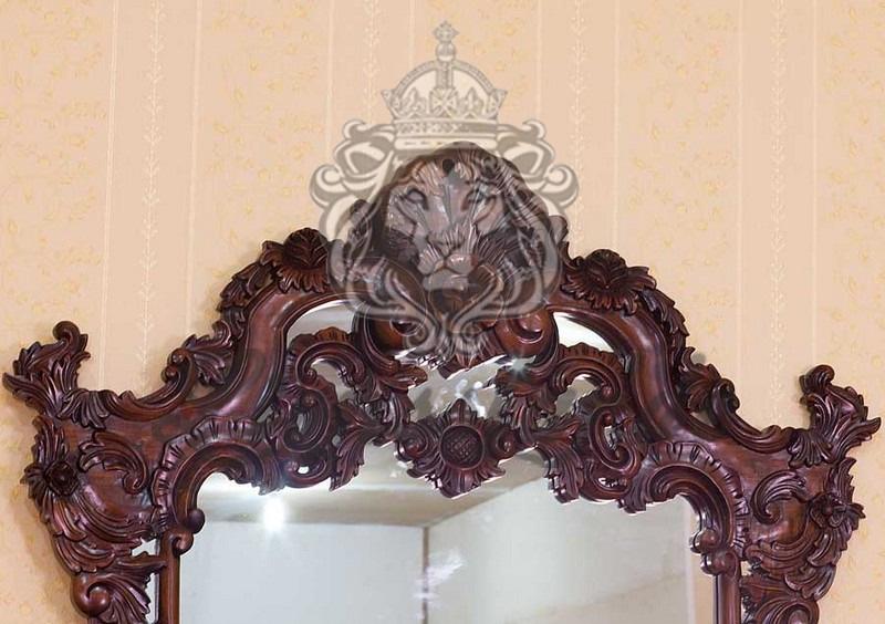 Spiegelkommode Barock Mahagoni Holz Sk.302